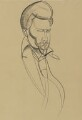 Ezra Pound, by (Percy) Wyndham Lewis - NPG 6728