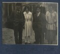 Gilbert Spencer; Julian Vinogradoff (née Morrell); Sir Stanley Spencer; Judith Masefield, by Lady Ottoline Morrell - NPG Ax141198