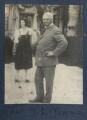 Julian Vinogradoff (née Morrell); Jerome Klapka Jerome, by Lady Ottoline Morrell - NPG Ax141433