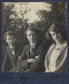 Hon. Robert Gathorne-Hardy; Kyrle Leng; Julian Vinogradoff (née Morrell), by Lady Ottoline Morrell - NPG Ax141492