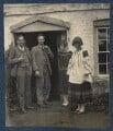 Oliver Strachey; Ralph Partridge; Frances Partridge; Dora Carrington, by Lady Ottoline Morrell - NPG Ax141541