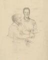 The Misses Gaskell (Margaret Emily Gaskell; Julia Bradford Gaskell), by Sir William Rothenstein - NPG D20892