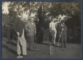 Philip Edward Morrell; James Ching; Sir Stanley Spencer and an unknown man, by Lady Ottoline Morrell - NPG Ax141568