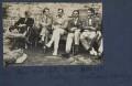 Gilbert Spencer; John Pilley; Kyrle Leng; L.P. Hartley; Peter Ralli; Hon. Robert Gathorne-Hardy, by Lady Ottoline Morrell - NPG Ax141585