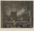 The Funeral Ceremony of Her Royal Highness the Princess Charlotte of Wales and Saxe Coburg, by Thomas Sutherland, after  Charles Wild, and after  James Stephanoff - NPG D20919