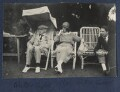 Walter Taylor; Delphine Marguerite Turner (née Dubuis); Walter James Redfern Turner, by Lady Ottoline Morrell - NPG Ax141710