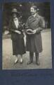 Delphine Marguerite Turner (née Dubuis); Walter James Redfern Turner, by Lady Ottoline Morrell - NPG Ax141714