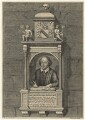 Monument to William Shakespeare in Holy Trinity Church, Stratford-upon-Avon, by George Vertue, after  Gerard Johnson - NPG D21013