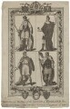 Portraits and Dresses of the Kings of England, (with their Arms), prior to the Norman Conquest Plate 4, by J.G. Wooding, after  Hamilton - NPG D8868