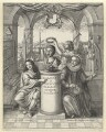 Frontispiece to 'The History of the Royal-Society of London' by Thomas Sprat, by Wenceslaus Hollar, after  John Evelyn - NPG D2945