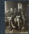 Igor Vinogradoff; Hon. Robert Gathorne-Hardy; Kyrle Leng; L.P. Hartley, by Lady Ottoline Morrell - NPG Ax142030