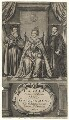 Queen Elizabeth I; William Cecil, 1st Baron Burghley; Sir Francis Walsingham, by William Faithorne - NPG D21065