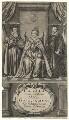 Queen Elizabeth I; William Cecil, 1st Baron Burghley; Sir Francis Walsingham, by William Faithorne - NPG D21065