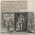 Somerviles haste to kill the Queene (Queen Elizabeth I; John Somerville (Somervile); 2 guards), by Friedrich van Hulsen - NPG D21063