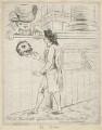 'Citizen Bardolph refused admittance at Prince Hal's' (Samuel McDonald; Richard Brinsley Sheridan), by James Sayers, published by  Hannah Humphrey - NPG D21106