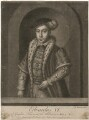 King Edward VI, by John Faber Sr, by  Richard Houston, published by  Henry Parker, published by  Elizabeth Bakewell - NPG D21107