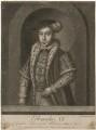 King Edward VI, by John Faber Sr, by  Richard Houston, published by  Henry Parker, published by  Elizabeth Bakewell - NPG D21107