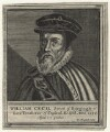 William Cecil, 1st Baron Burghley, by William Marshall, after  Magdalena de Passe, after  Willem de Passe - NPG D21161