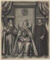 Queen Elizabeth I; Sir Francis Walsingham; William Cecil, 1st Baron Burghley, by William Faithorne - NPG D21165