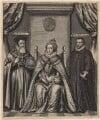 Queen Elizabeth I; Sir Francis Walsingham; William Cecil, 1st Baron Burghley, by William Faithorne - NPG D21165