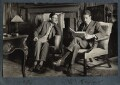 Siegfried Loraine Sassoon; Walter James Redfern Turner, by Lady Ottoline Morrell - NPG Ax142422