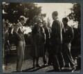 Kyrle Leng; Elizabeth Theresa Frances Courtauld (née Kelsey); Samuel Courtauld; Igor Vinogradoff; Hon. Robert Gathorne-Hardy, by Lady Ottoline Morrell - NPG Ax142488
