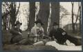 Igor Vinogradoff; Julian Vinogradoff (née Morrell); Philip Edward Morrell, by Lady Ottoline Morrell - NPG Ax142493