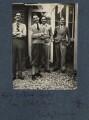 Hon. (Ralph) Edward Gathorne-Hardy; Hon. Robert Gathorne-Hardy; Eardley Knollys and an unknown man, by Lady Ottoline Morrell - NPG Ax142501
